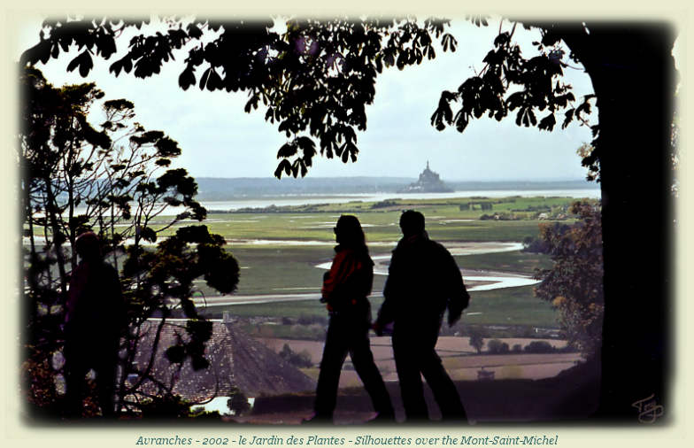 Silhouettes over the Mont-Saint-Michel